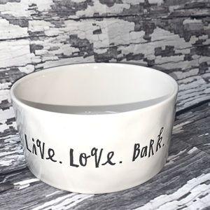 Rae Dunn • Pet Bowl • LIVE. LOVE. BARK.